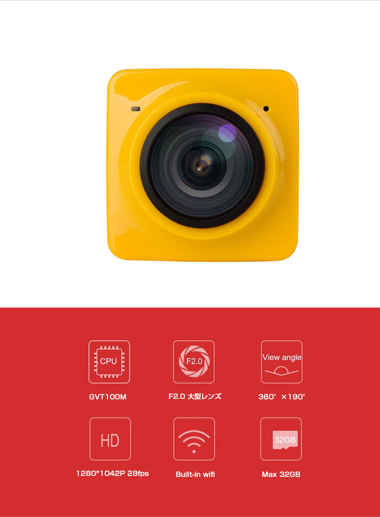アクションカメラ 360度