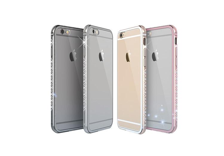 iphone バンパー iphone6s ラインストーン アルミバンパー 6S-O67-T50928