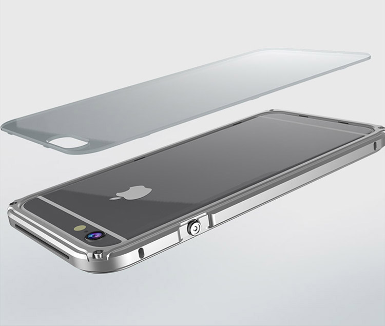 iphone バンパー iphone6s アルミバンパー 6S-R70-T50928