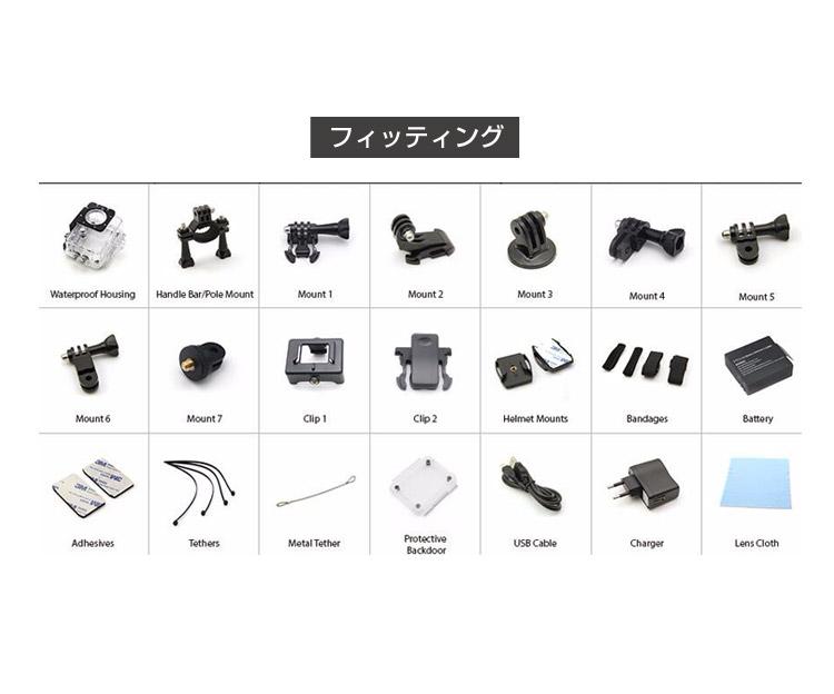 ウエラブルカメラ 4K