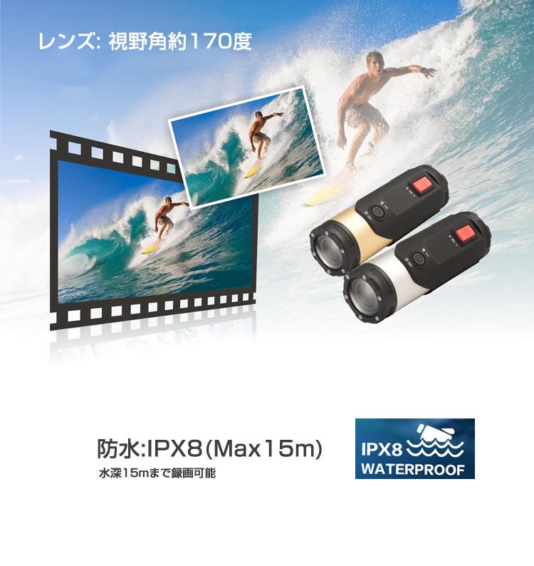 スポーツカメラ モーションセンサー