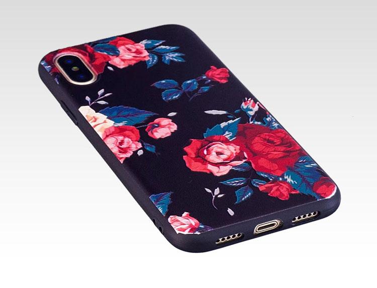 iPhone X ケース TPU カバー 花柄 イラスト エレガント スリム アイフォン10 カバー【送料無料】ipx,529