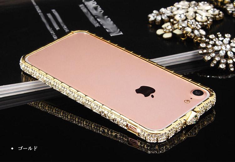 iphone バンパー iphone8 ラインストーン