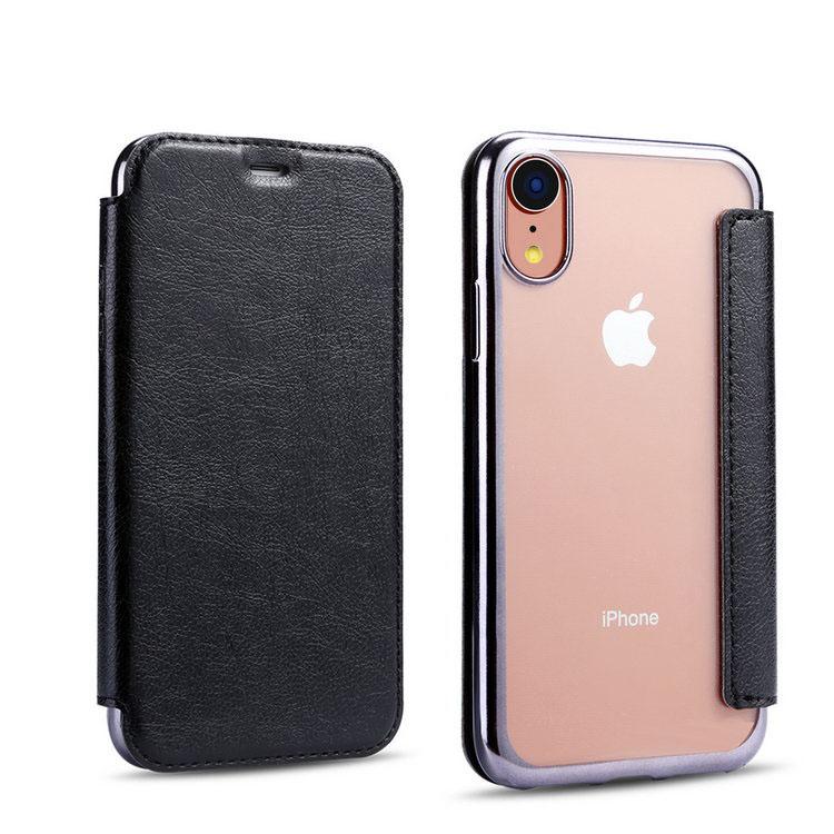 2bc6a3bda3 アップル アイフォンXR用のメッキと背面クリアがおしゃれな手帳型ケース 撃吸収 落下防止 apple ケース スマホケース スマホカバー