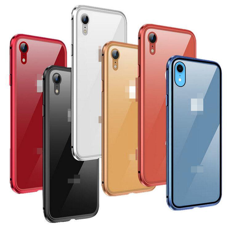 168aca5bf3 Apple iPhone XR ケース/カバー アルミ バンパー クリア 透明 強化ガラス 液晶保護 背面強化ガラス 背面パネル付き XR アルミサイド バンパー MG02B【送料無料】